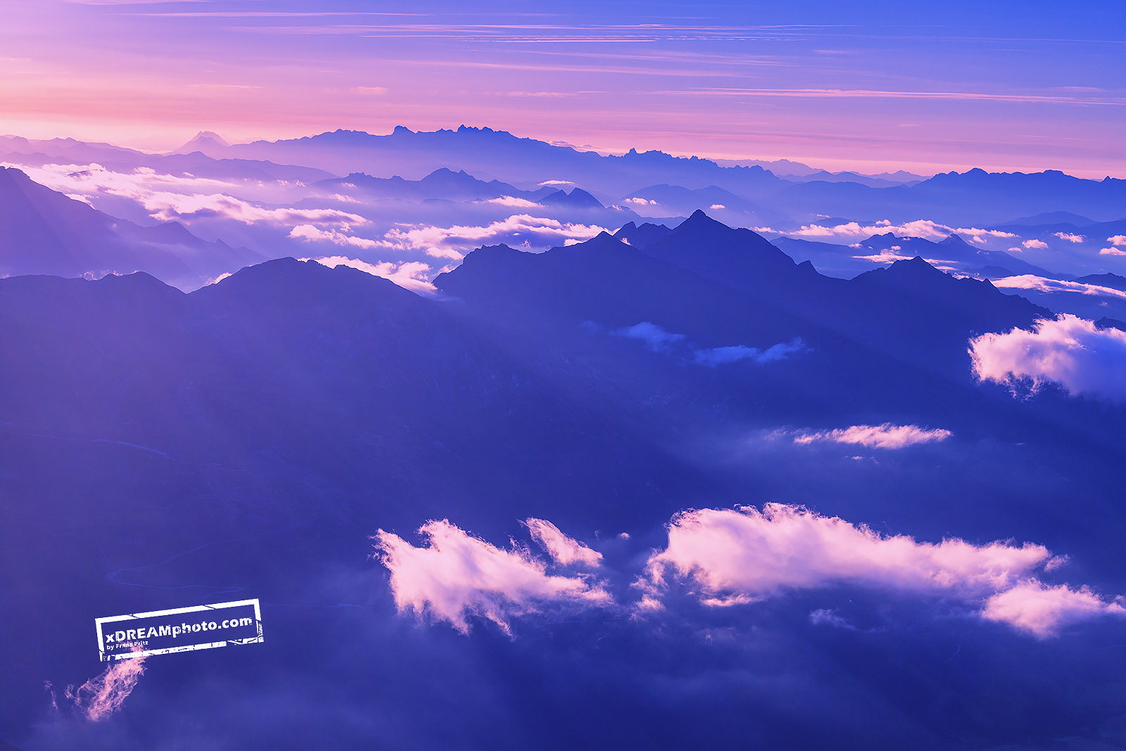 Colorful sunrise in the Austrian Alps by Franz Pritz